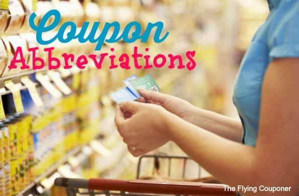Coupon mom abbreviations