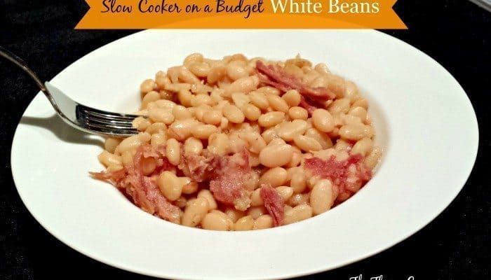 Slow Cooker White Beans on a Budget