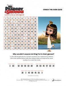 Mr. Peabody & Sherman Printables & Giveaway #MrPeabody Crack the code