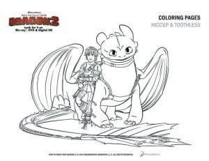 How to Train Your Dragon 2 family movie Coloring page 2