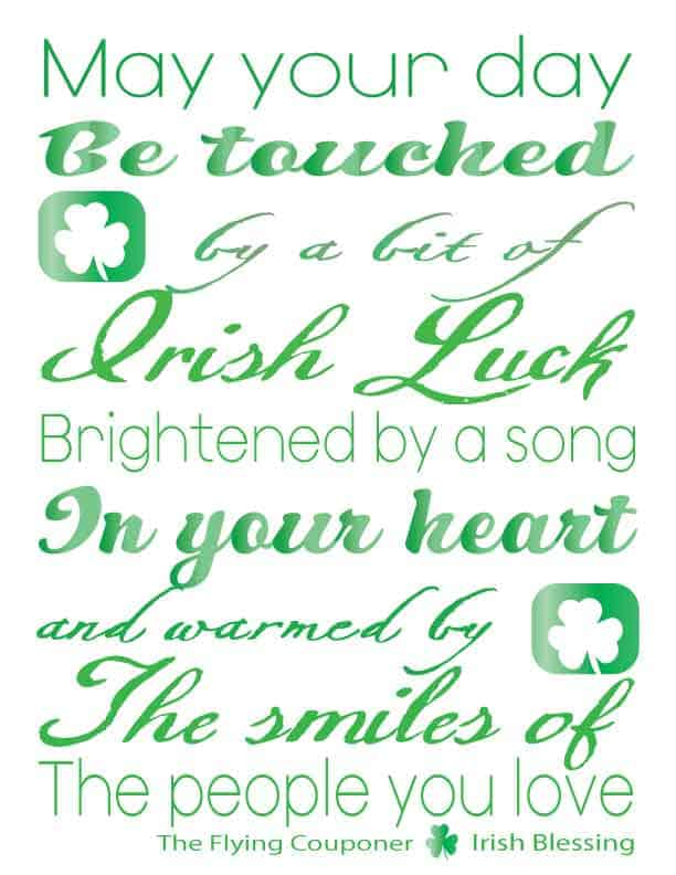 image regarding Printable Irish Blessing named St. Patricks Working day Totally free printable