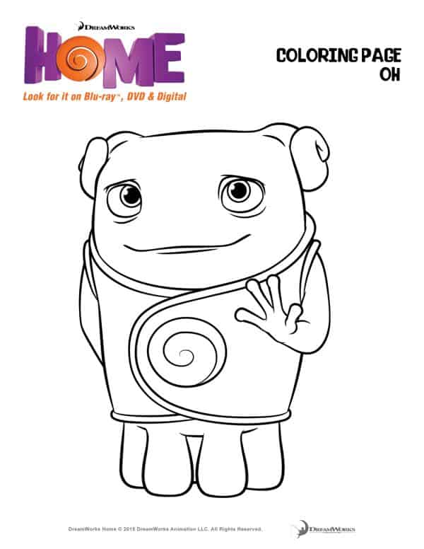 oh from the movie home coloring pages - photo #14