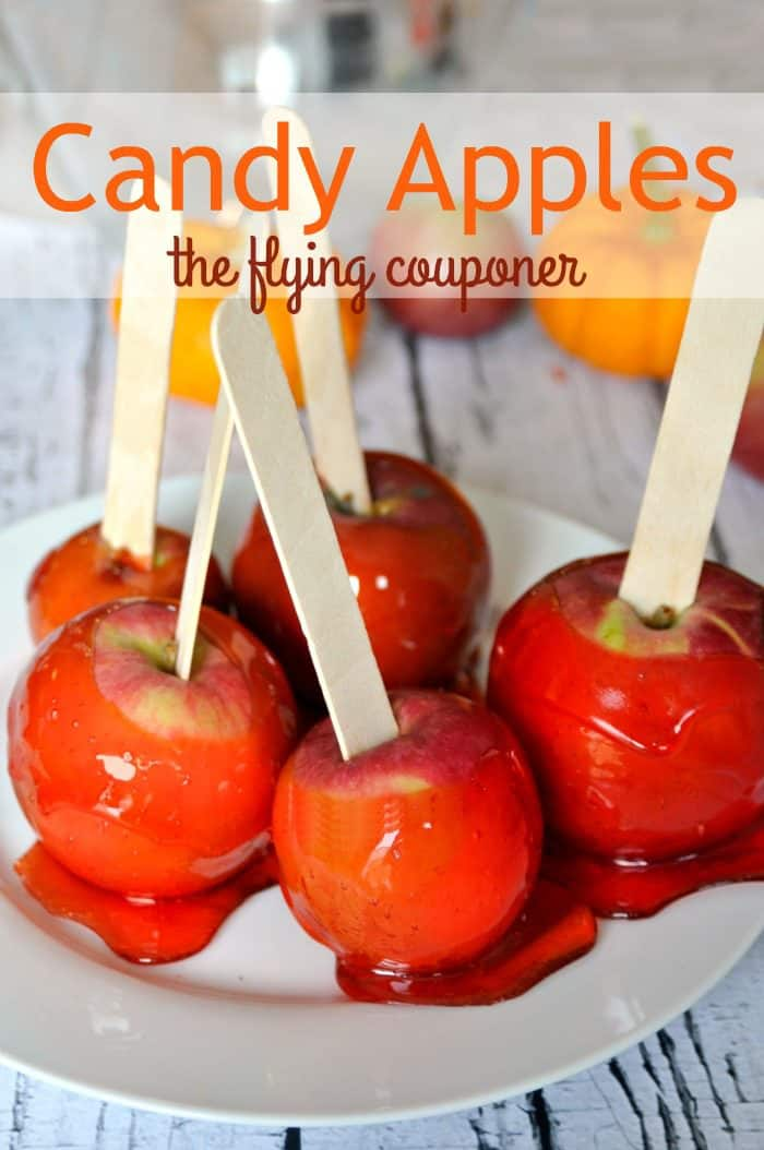 Candy Apples. Fall and winter Recipes. The Flying Couponer.