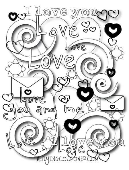 valentine coloring pages school family - photo #5