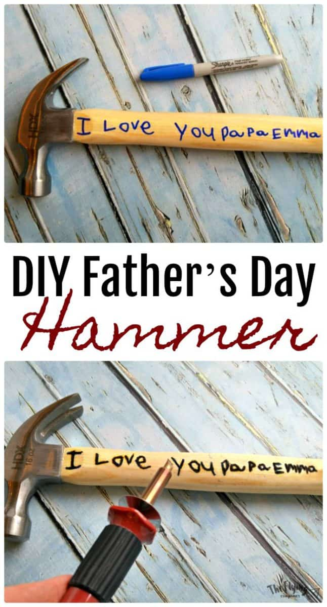 Personalised Engraved Pin Hammer Fathers Day Gift Custom Present DIY Tools