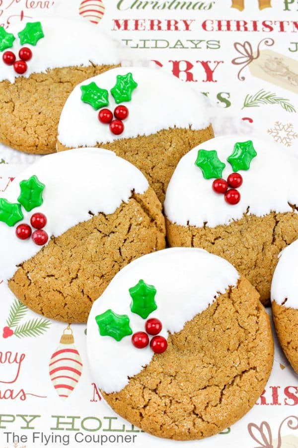 Gingerbread Holly Cookies The Flying Couponer
