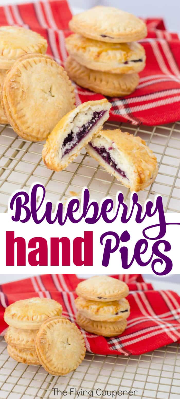 Easy Blueberry Hand Pies. Old Fashioned homemade desserts. Mini fruit pie made with frozen blueberries. Simple filling recipe. Best crust recipe ever!
